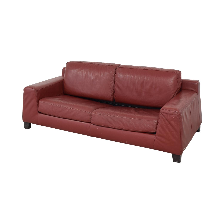 shop Natuzzi Leather Full Sofa Bed Natuzzi