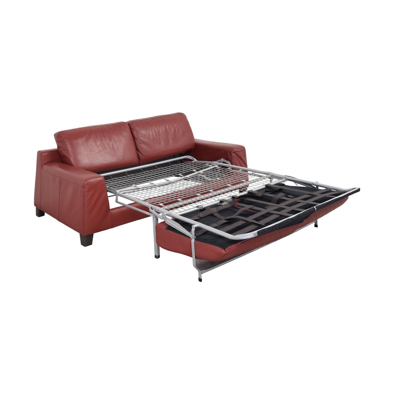 Natuzzi Leather Full Sofa Bed sale
