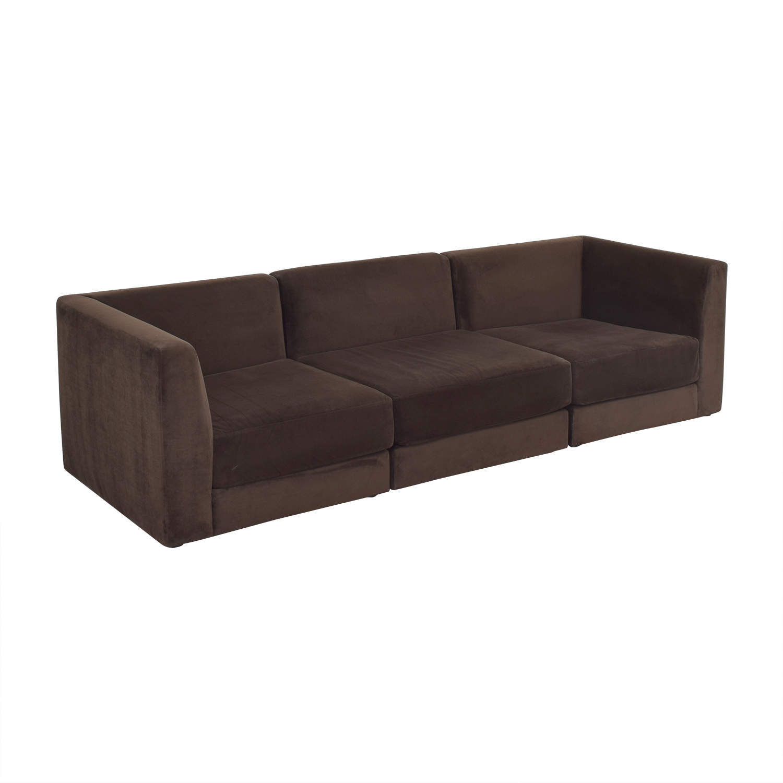 CB2 CB2 Three Piece Modular Sofa for sale