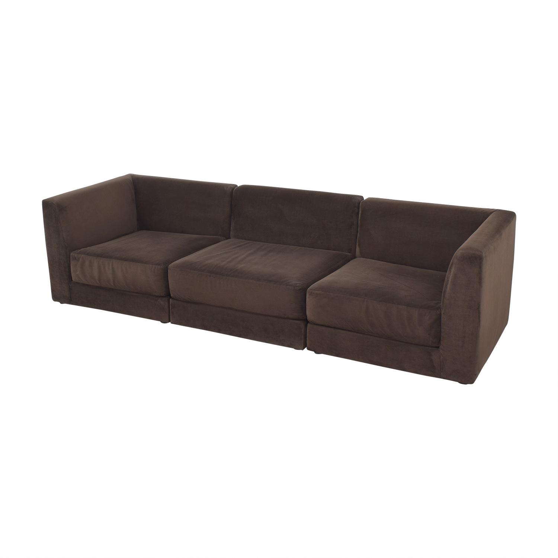 buy CB2 Three Piece Modular Sofa CB2 Sofas