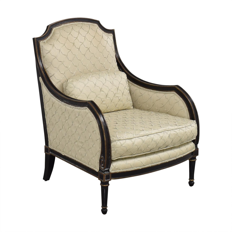Jardine Ent Quilted Side Chair beige & dark brown