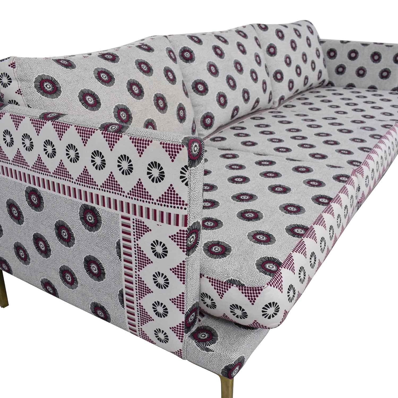 Anthropologie Linde Printed Sofa Elite Leather Company