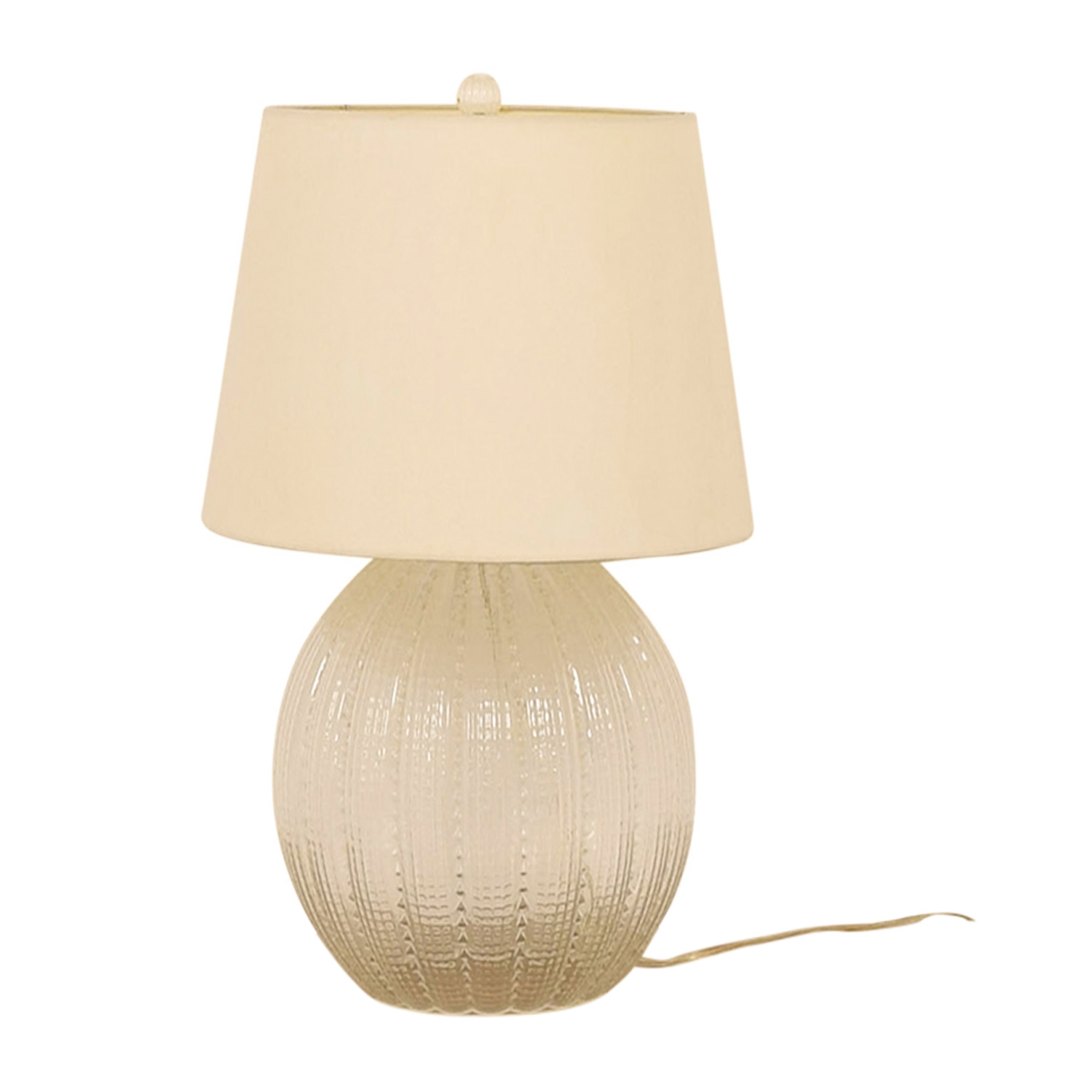 Crate & Barrel Crate & Barrel Glass Lamp and Shade coupon