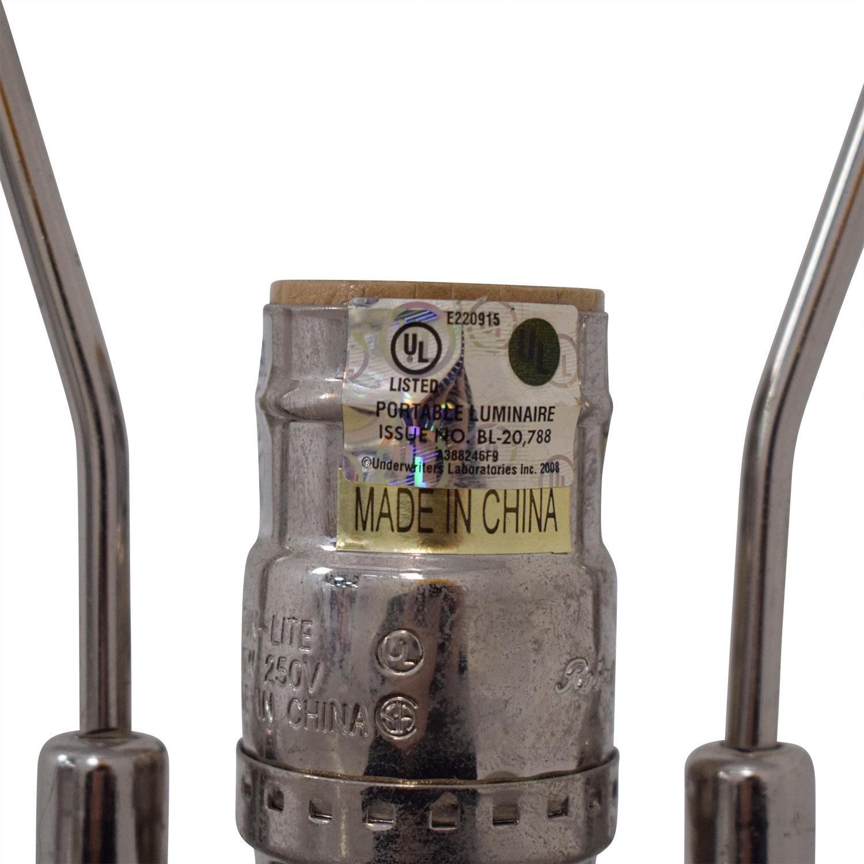 Crate & Barrel Crate & Barrel Glass Lamp and Shade Lamps