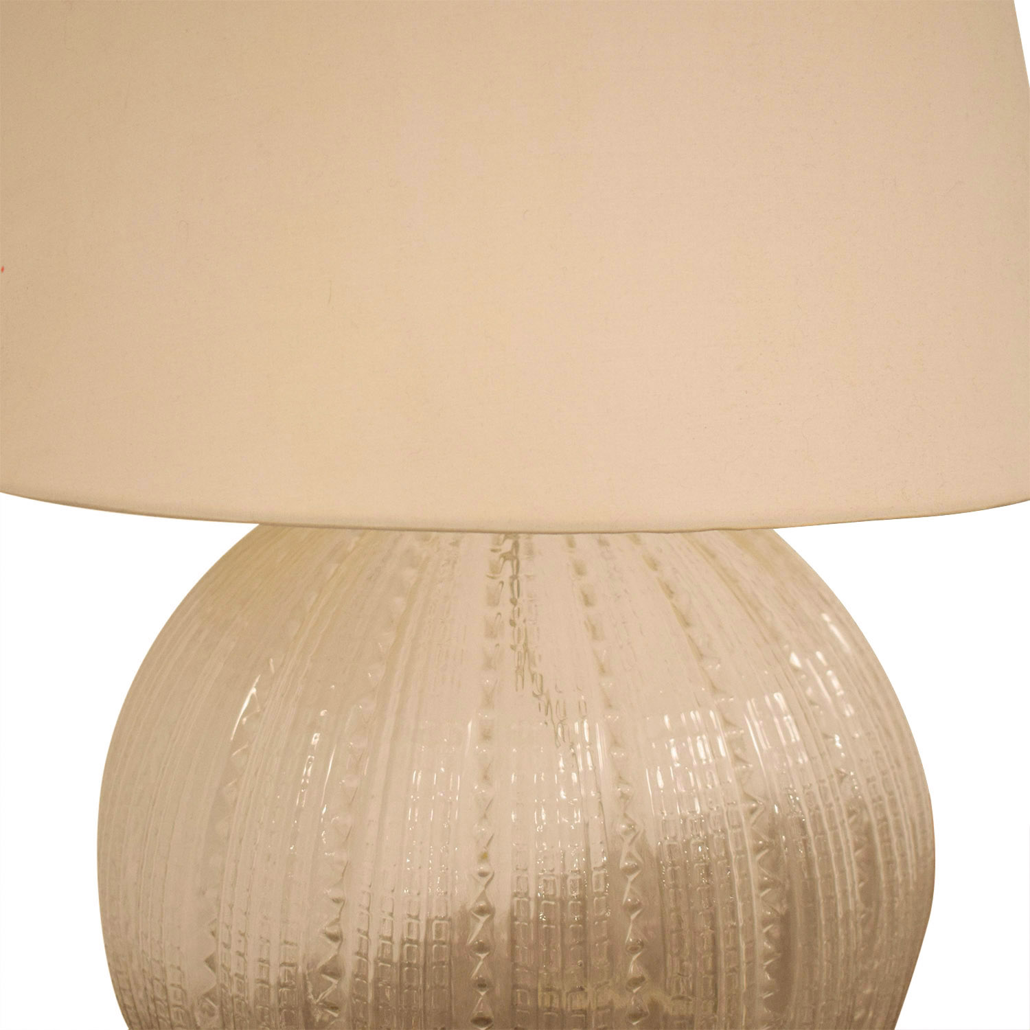 Crate & Barrel Crate & Barrel Glass Lamp and Shade nyc