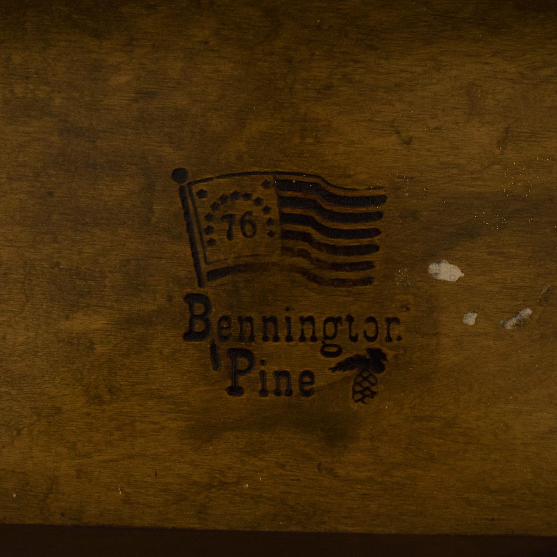 Bennington Pine Bennington Pine Dresser with Twin Mirrors dark brown