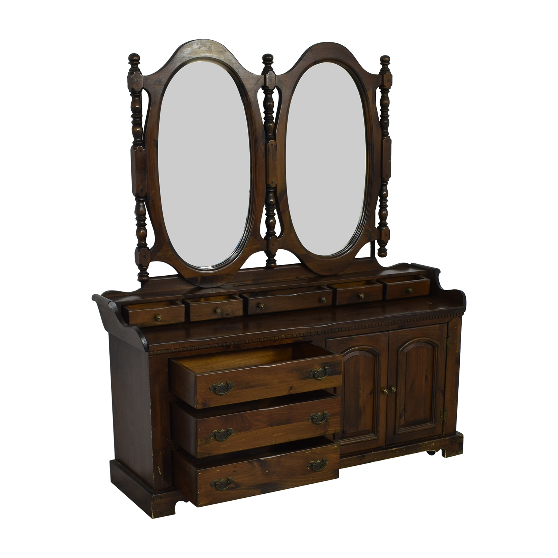 Bennington Pine Bennington Pine Dresser with Twin Mirrors price