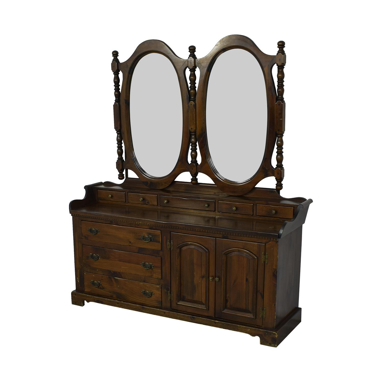 shop Bennington Pine Bennington Pine Dresser with Twin Mirrors online