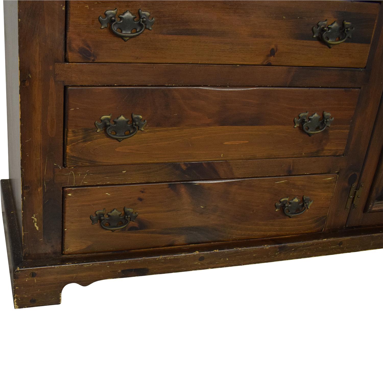 buy Bennington Pine Dresser with Twin Mirrors Bennington Pine Dressers