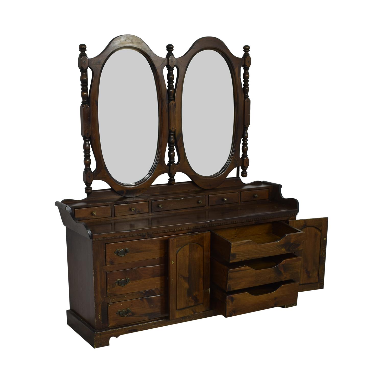 Bennington Pine Bennington Pine Dresser with Twin Mirrors coupon