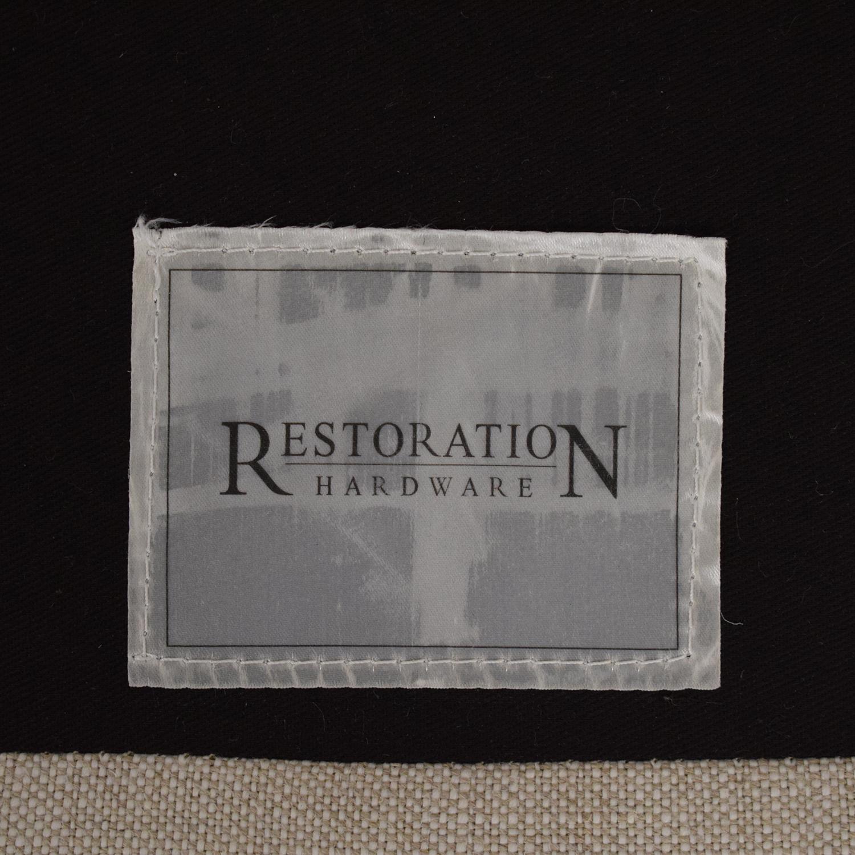 Restoration Hardware Restoration Hardware English Roll Arm Sofa dimensions