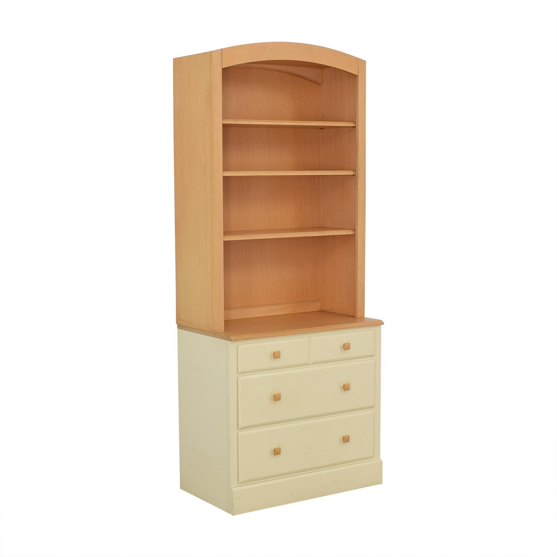 Ethan Allen Ethan Allen Bookcase and Dresser Combination Storage