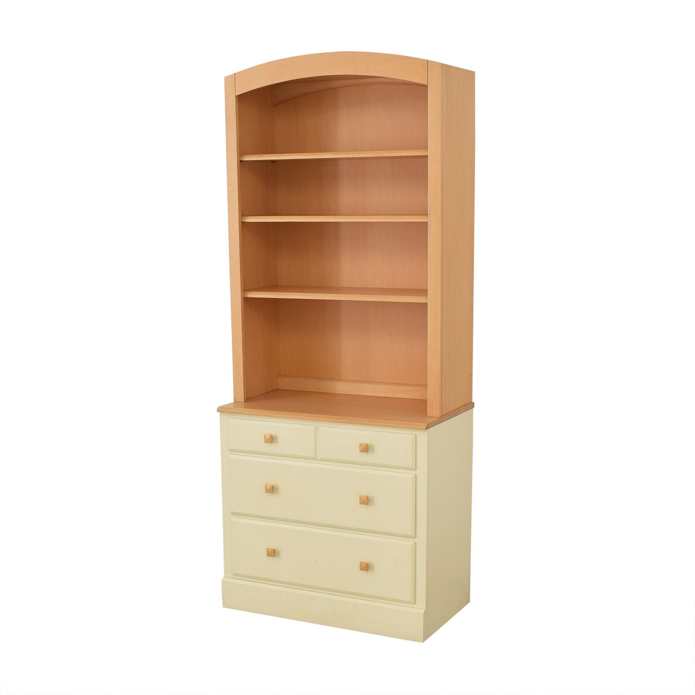 shop Ethan Allen Bookcase and Dresser Combination Ethan Allen Storage