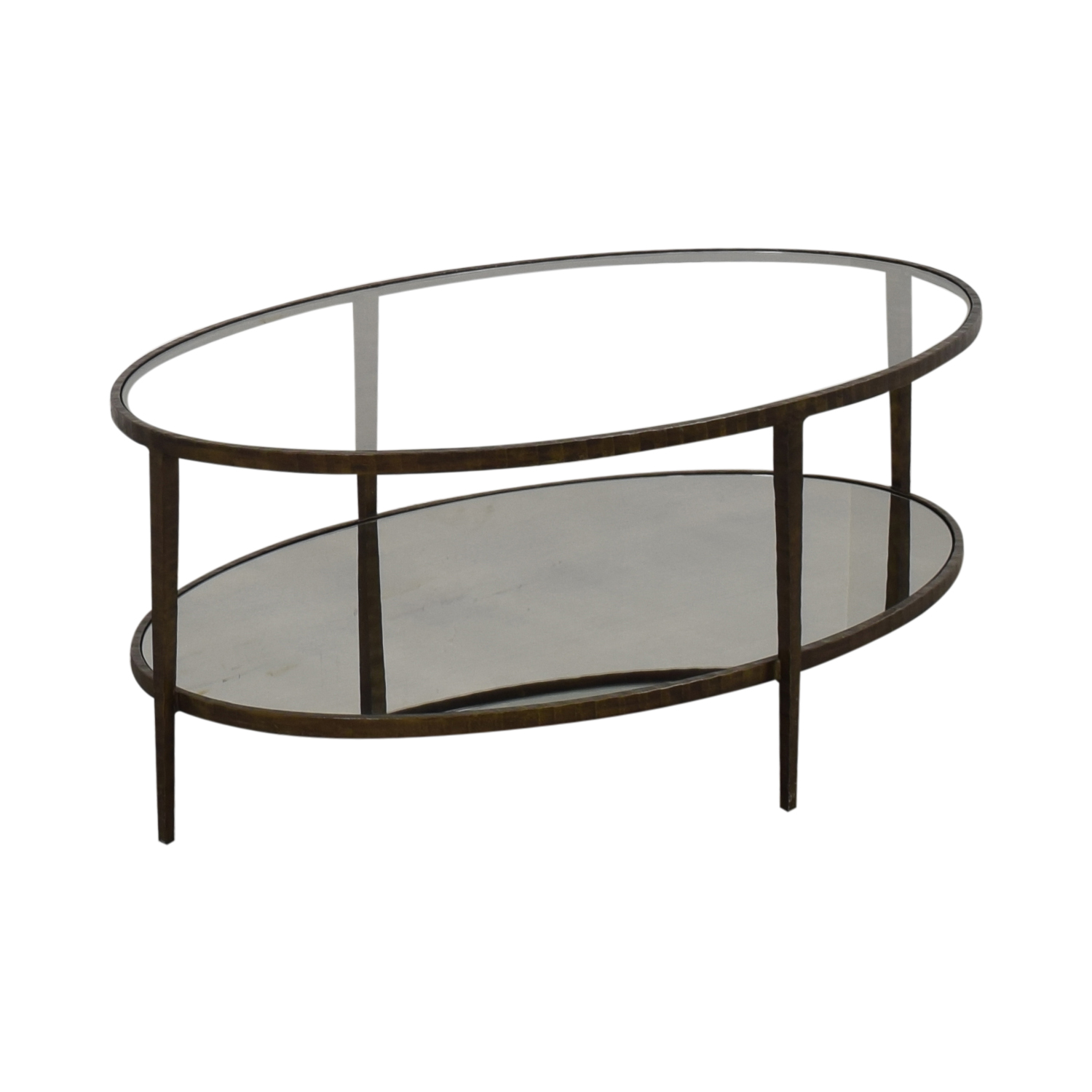 Crate & Barrel Crate & Barrel Clairemont Oval Coffee Table pa
