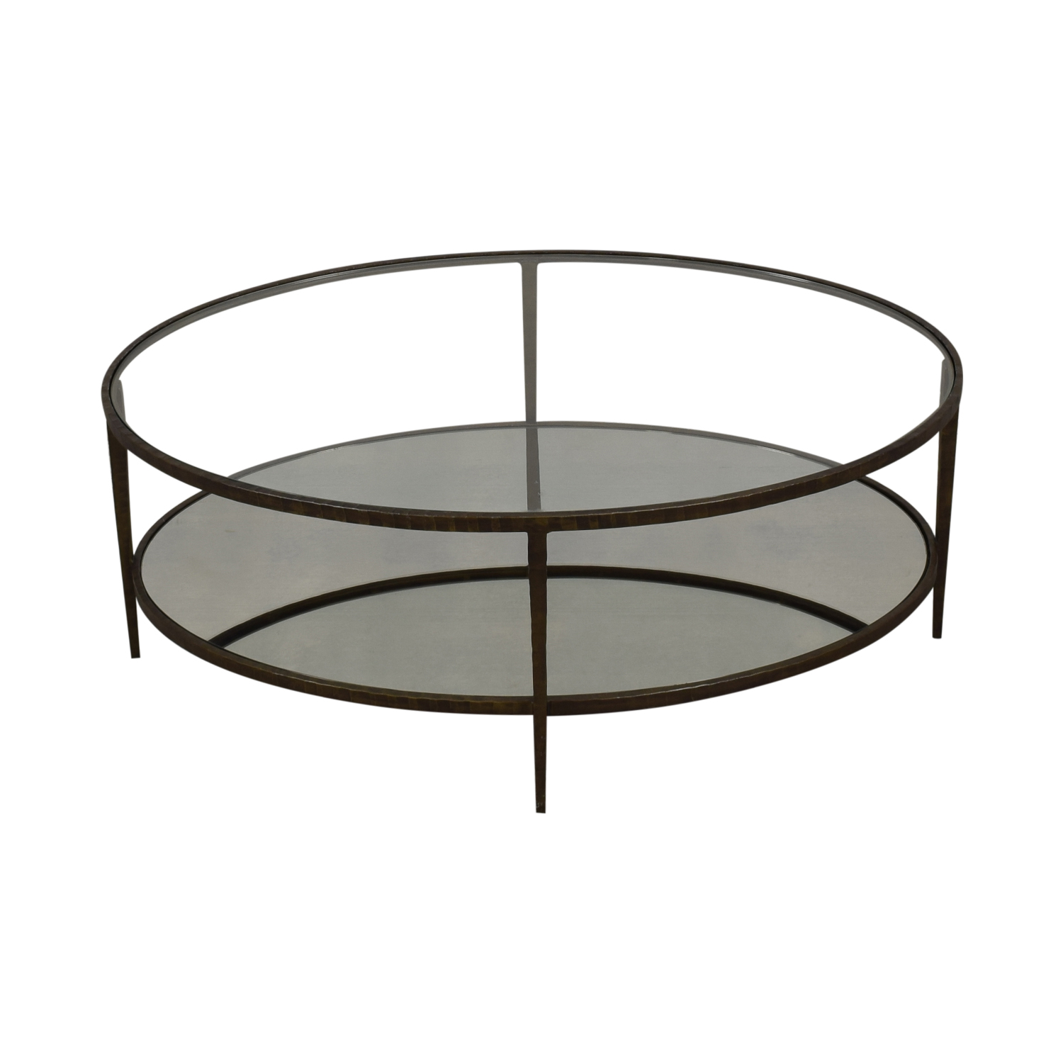 Crate & Barrel Crate & Barrel Clairemont Oval Coffee Table ct