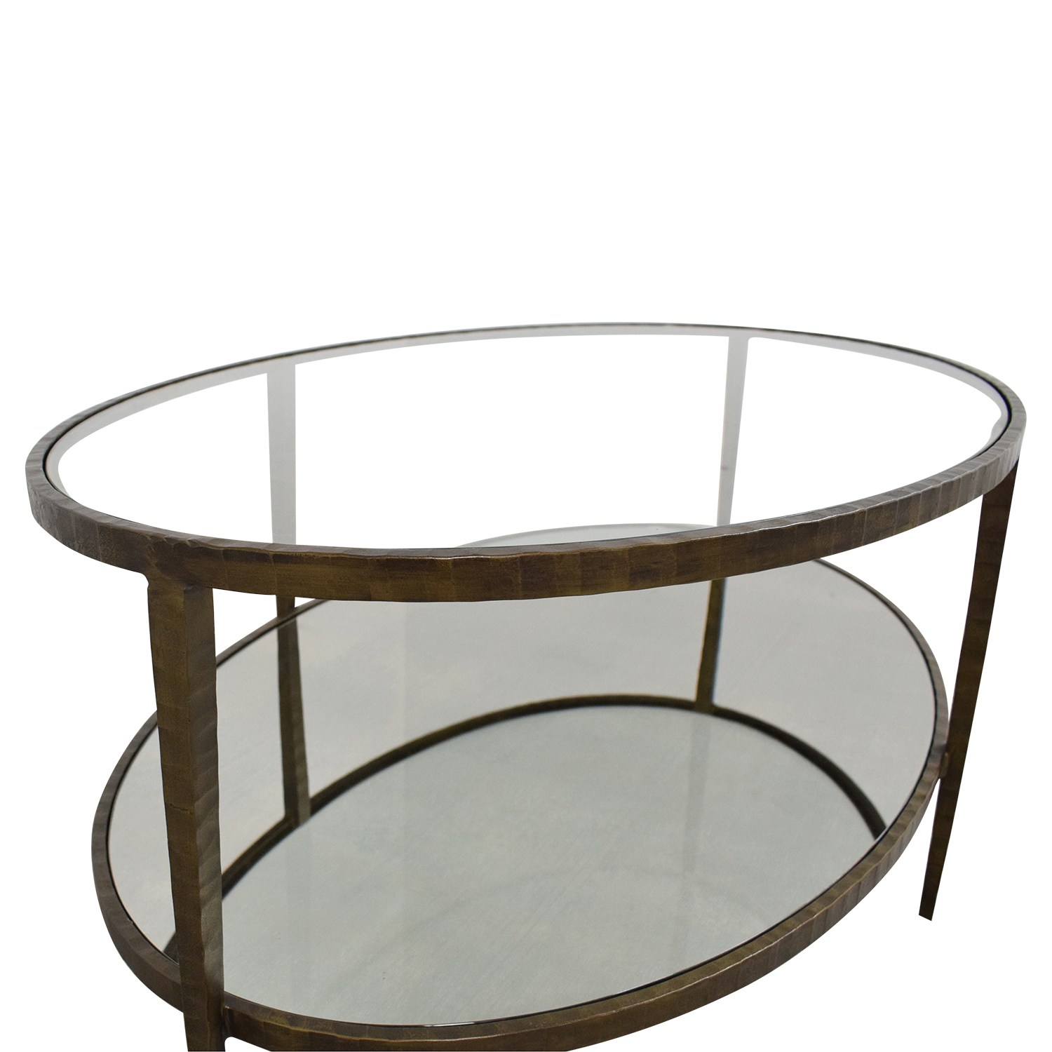 Crate & Barrel Crate & Barrel Clairemont Oval Coffee Table second hand