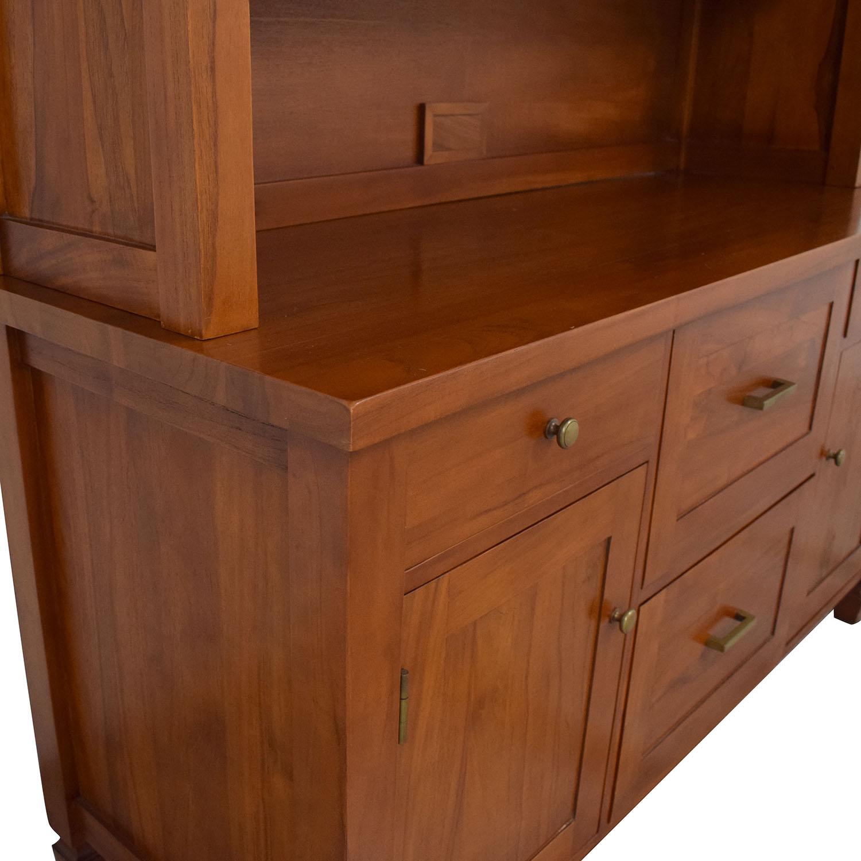Crate & Barrel Bookcase and Credenza Crate & Barrel