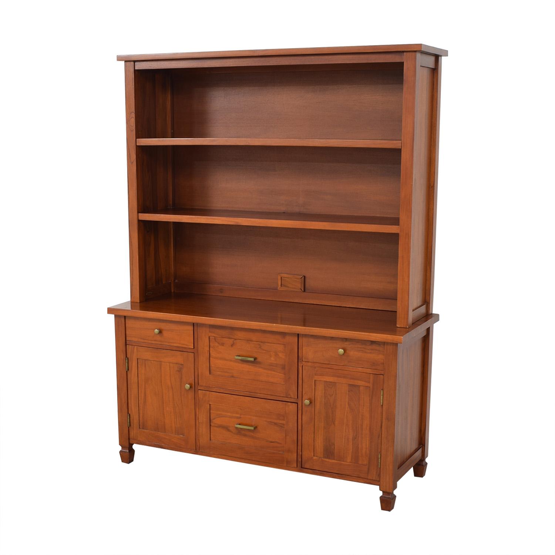 shop Crate & Barrel Bookcase and Credenza Crate & Barrel