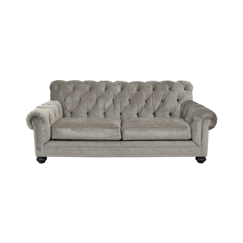 77 Off Ethan Allen Chadwick Tufted Sofa Sofas