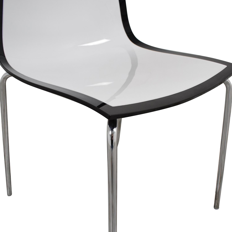 shop Bontempi Casa Lucite Desk Chair Bontempi Accent Chairs