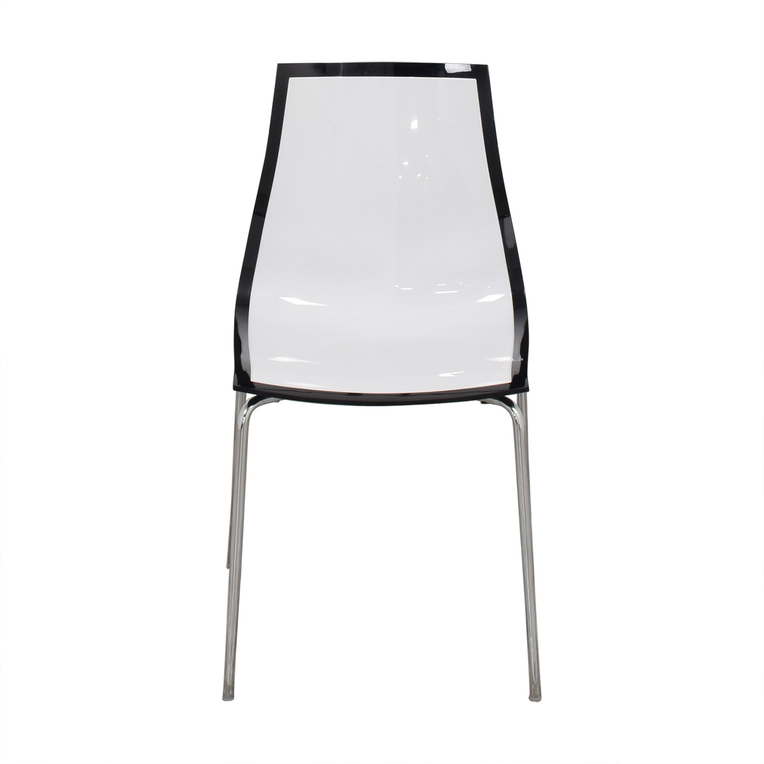 Bontempi Bontempi Casa Lucite Desk Chair black & white