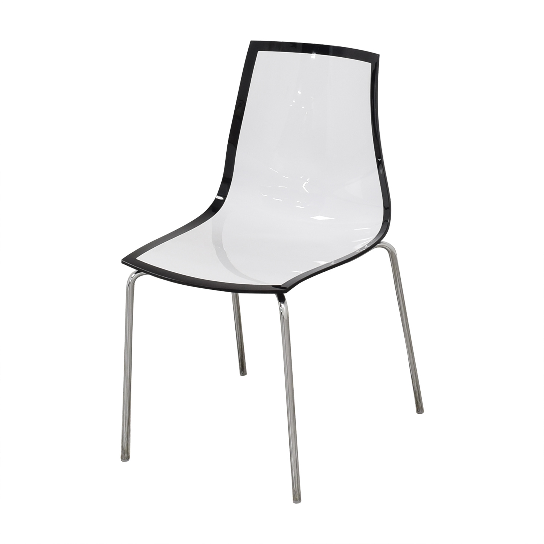 buy Bontempi Casa Lucite Desk Chair Bontempi Accent Chairs