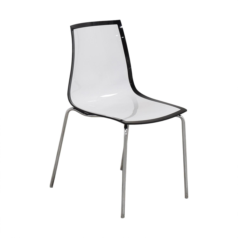 Bontempi Bontempi Casa Lucite Desk Chair Accent Chairs