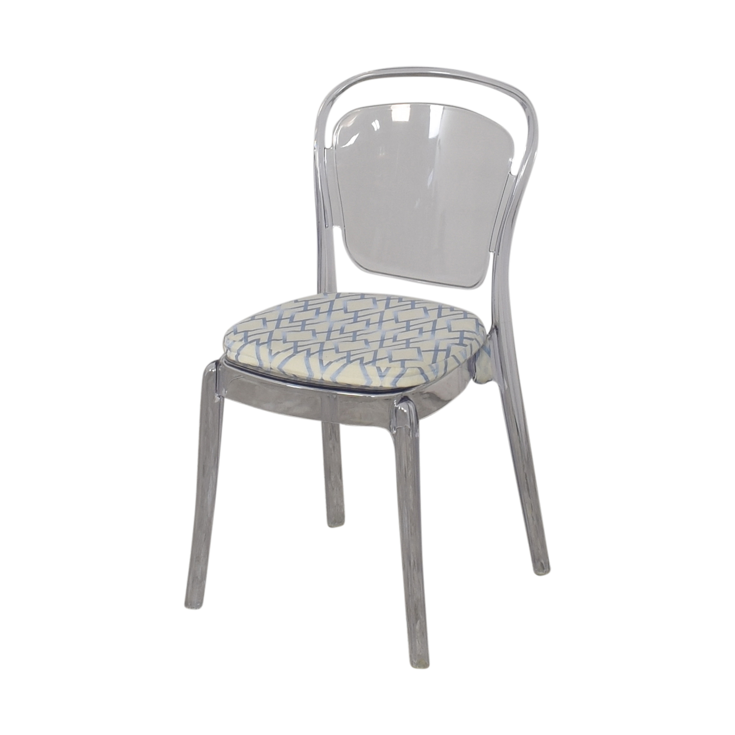 Lucite Upholstered Chair Chairs
