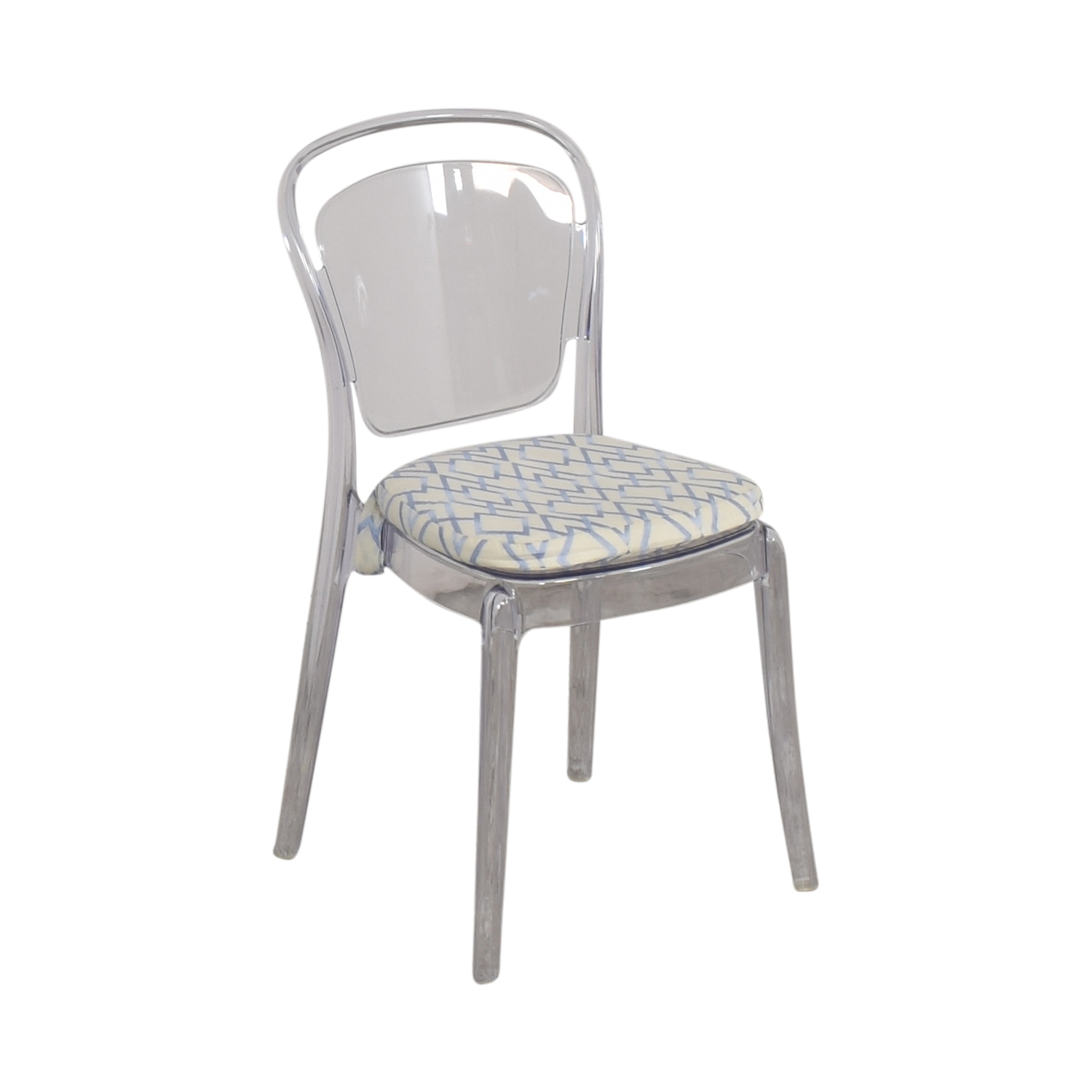 Lucite Upholstered Chair / Chairs