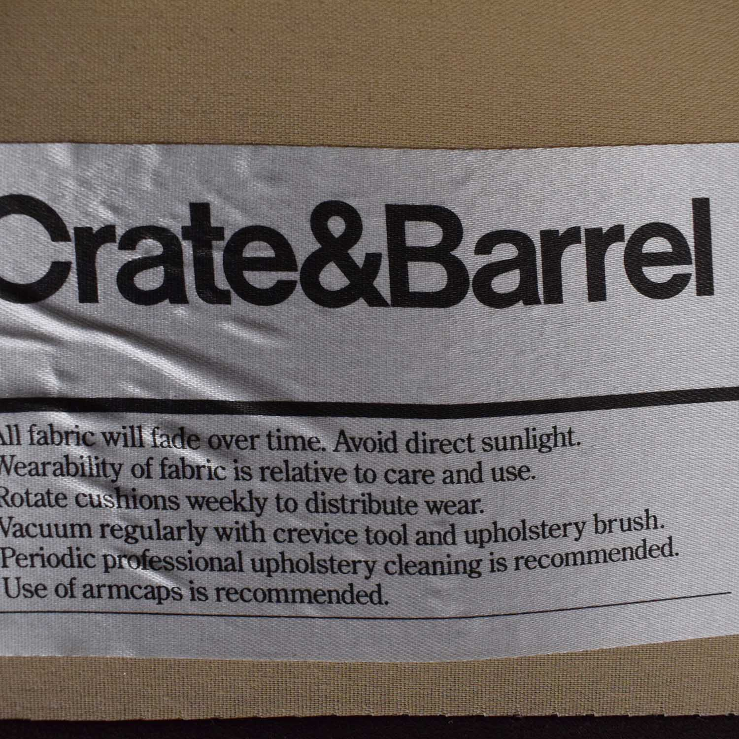 Crate & Barrel Crate & Barrel Sofa dark brown