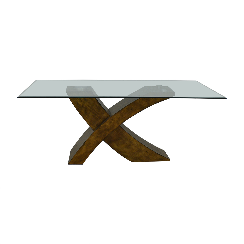 Orren Ellis Orren Ellis Mid Century Modern Dining Table dimensions