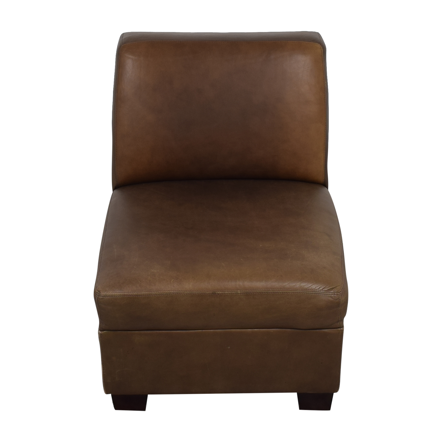 shop Pottery Barn Trevor Slipper Chair Pottery Barn Accent Chairs