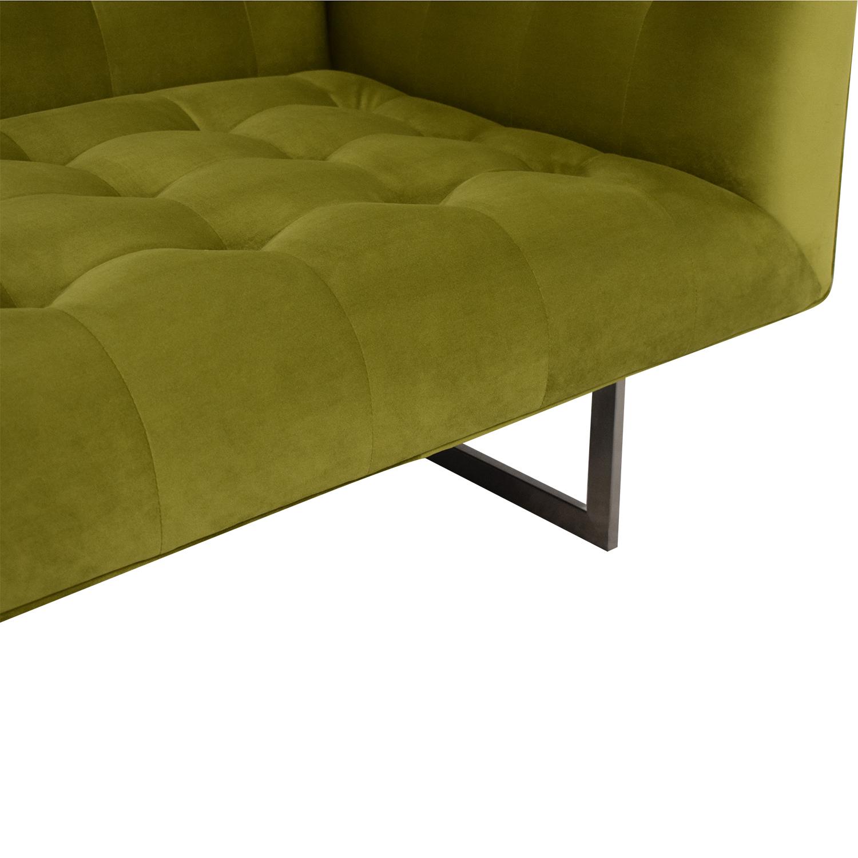 Kardiel Kardiel Edward Sofa Olive Green Velvet on sale