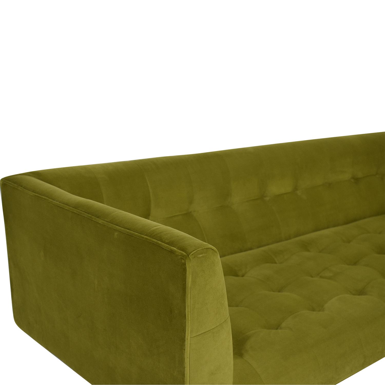 Kardiel Edward Sofa Olive Green Velvet / Classic Sofas