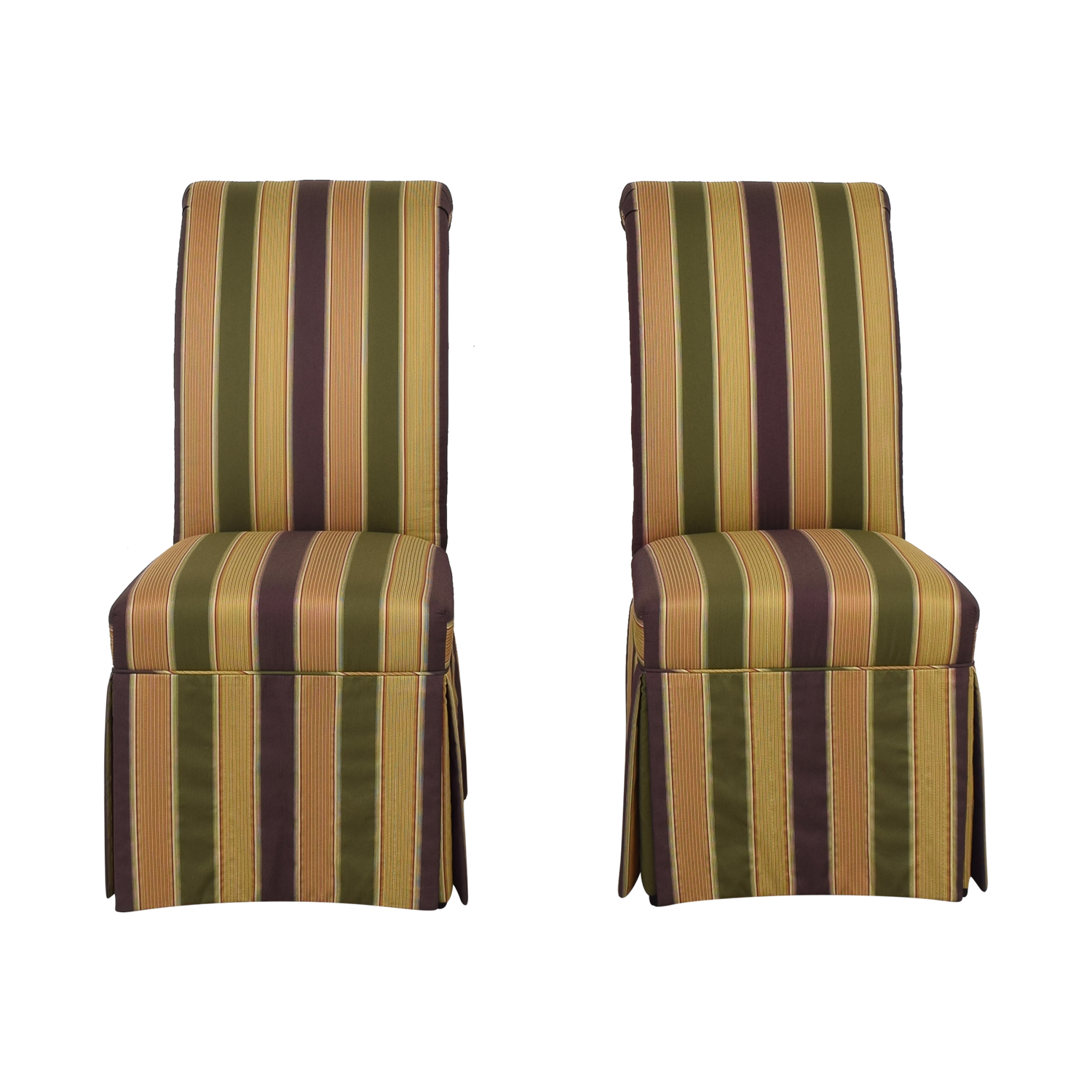 High Back Fabric Dining Chairs ct