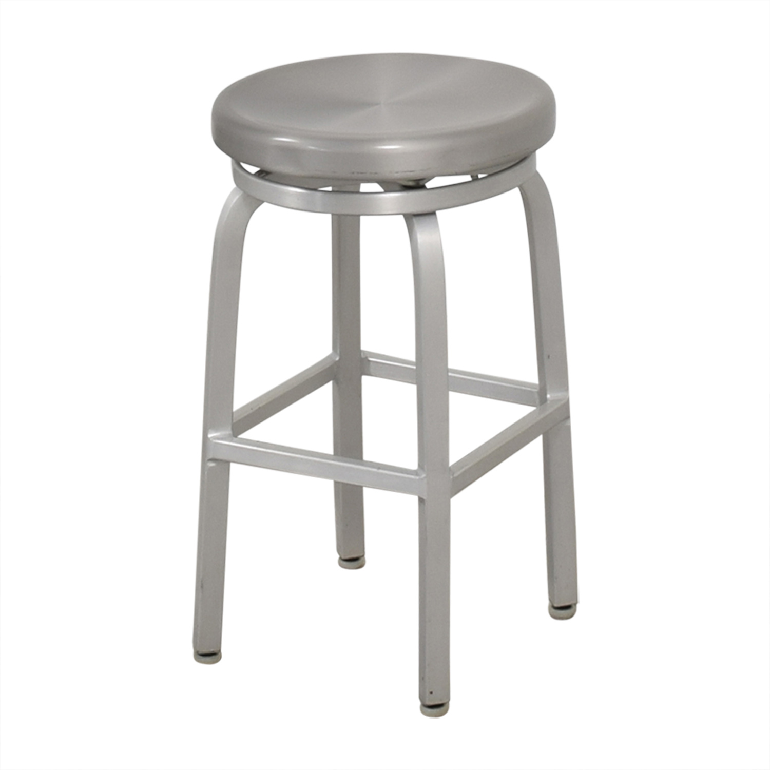 Crate & Barrel Crate & Barrel Spin Swivel Backless Counter Stool second hand