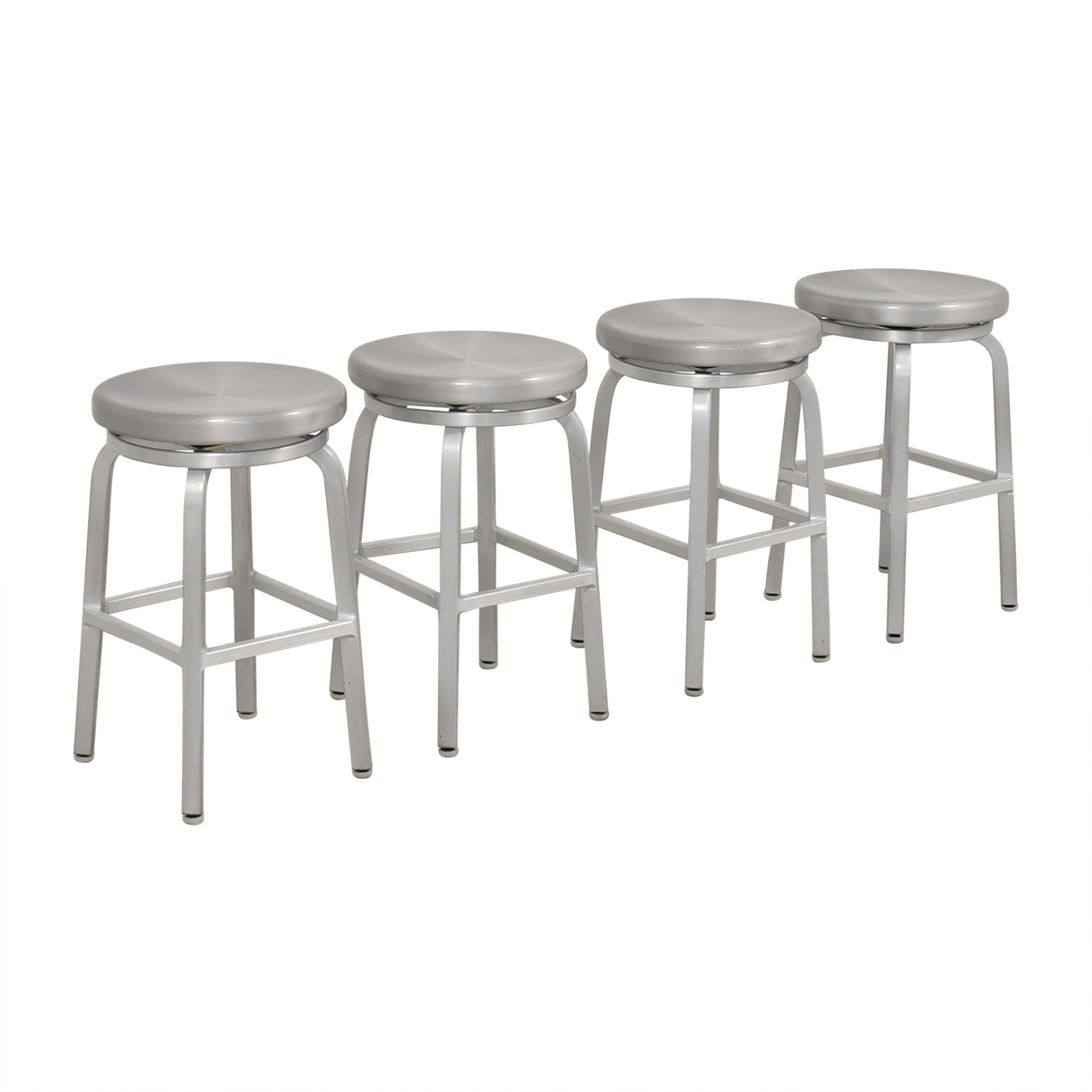 Crate & Barrel Crate & Barrel Spin Swivel Backless Counter Stool ct
