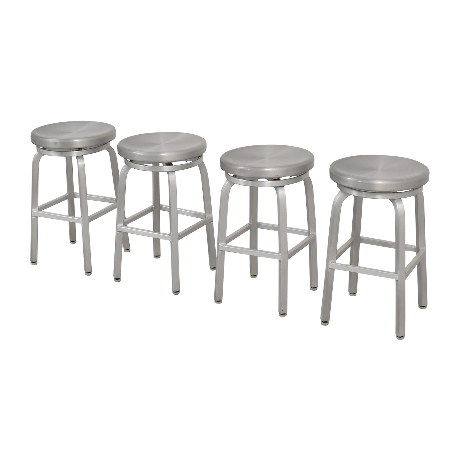 Crate & Barrel Spin Swivel Backless Counter Stool Crate & Barrel