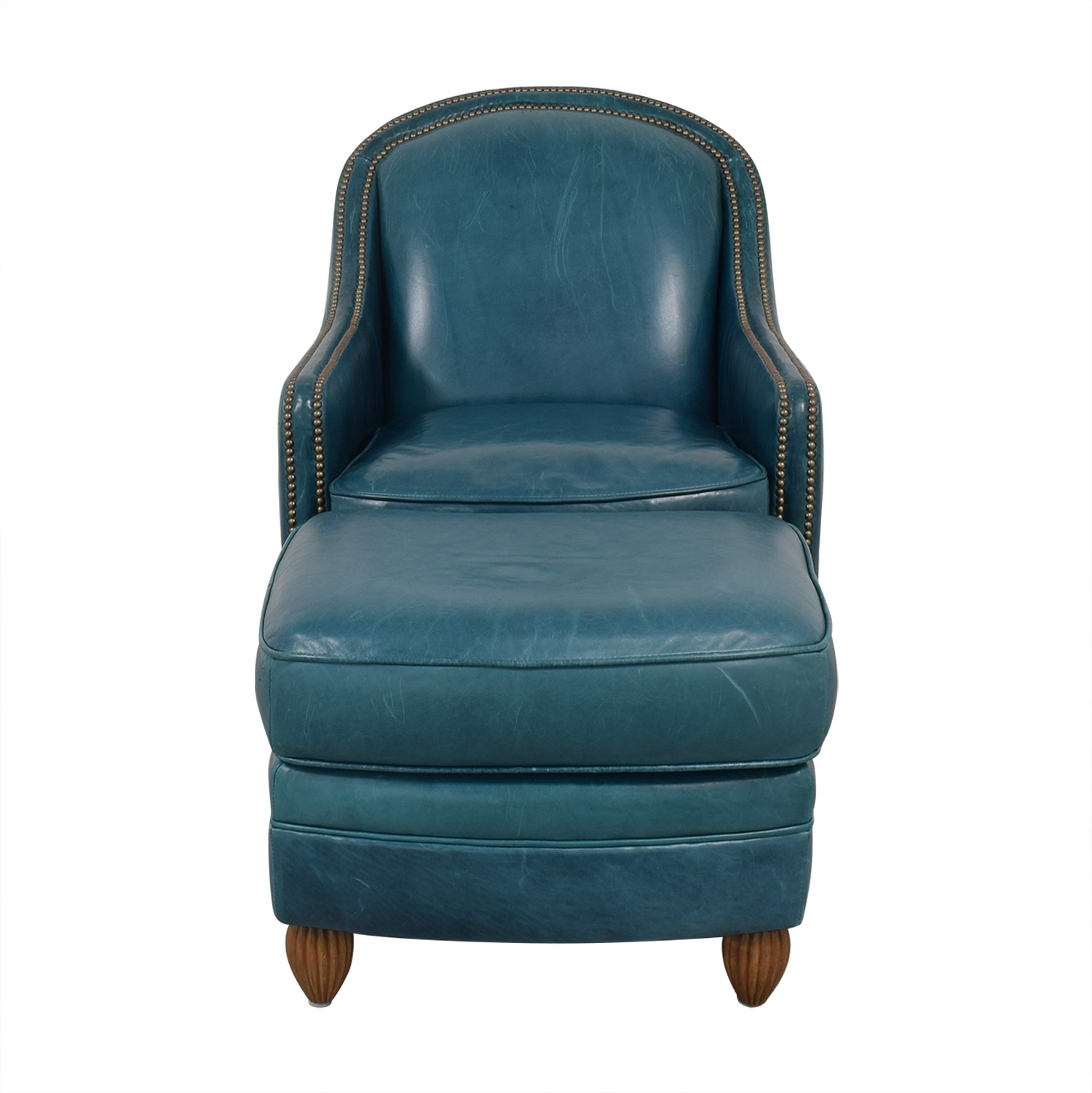 buy Elite Leather Company Chair & Ottoman Elite Leather Company Accent Chairs