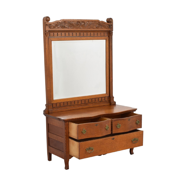 Woodward Furniture Works Woodward Furniture Works Dresser with Mirror ma