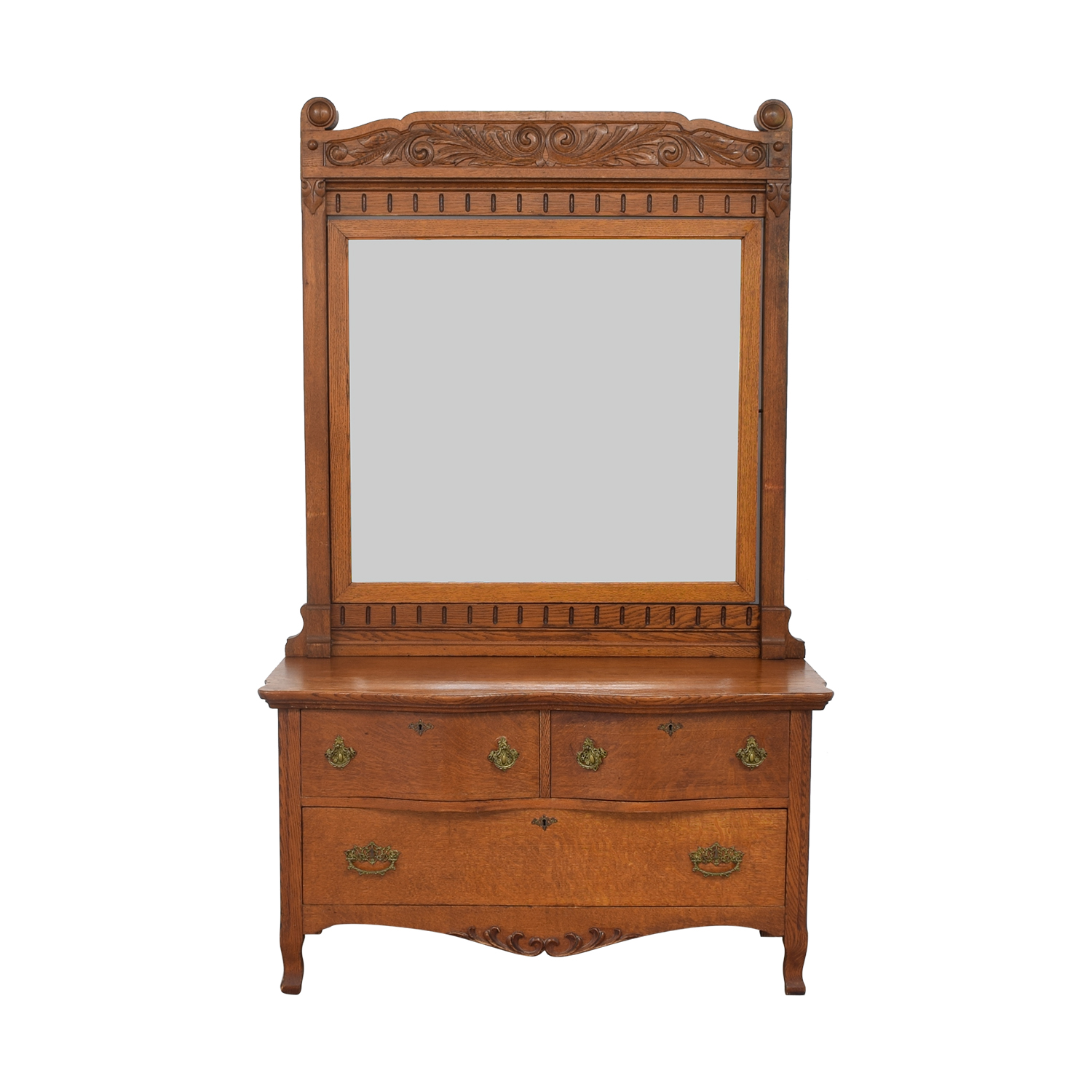 Woodward Furniture Works Woodward Furniture Works Dresser with Mirror nj