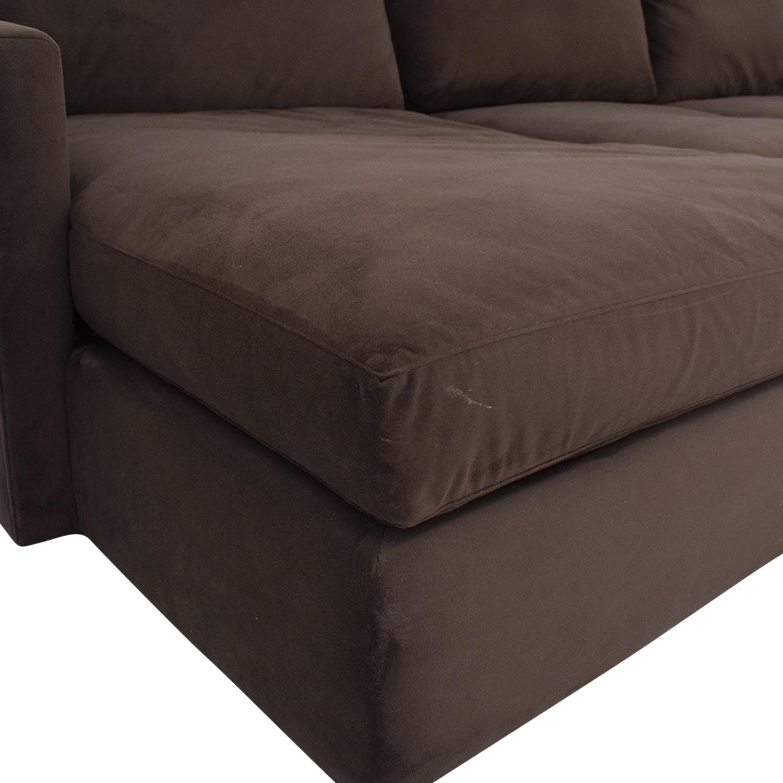 Crate & Barrel Crate & Barrel Lounge II 2-Piece Sectional Sofa dimensions