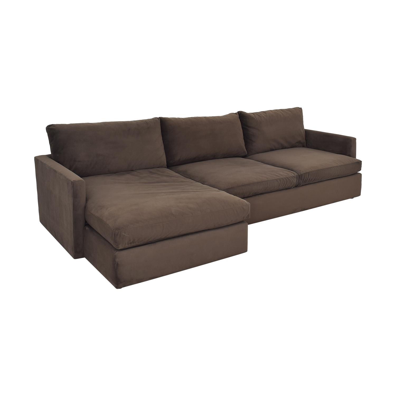 buy Crate & Barrel Lounge II 2-Piece Sectional Sofa Crate & Barrel Sofas