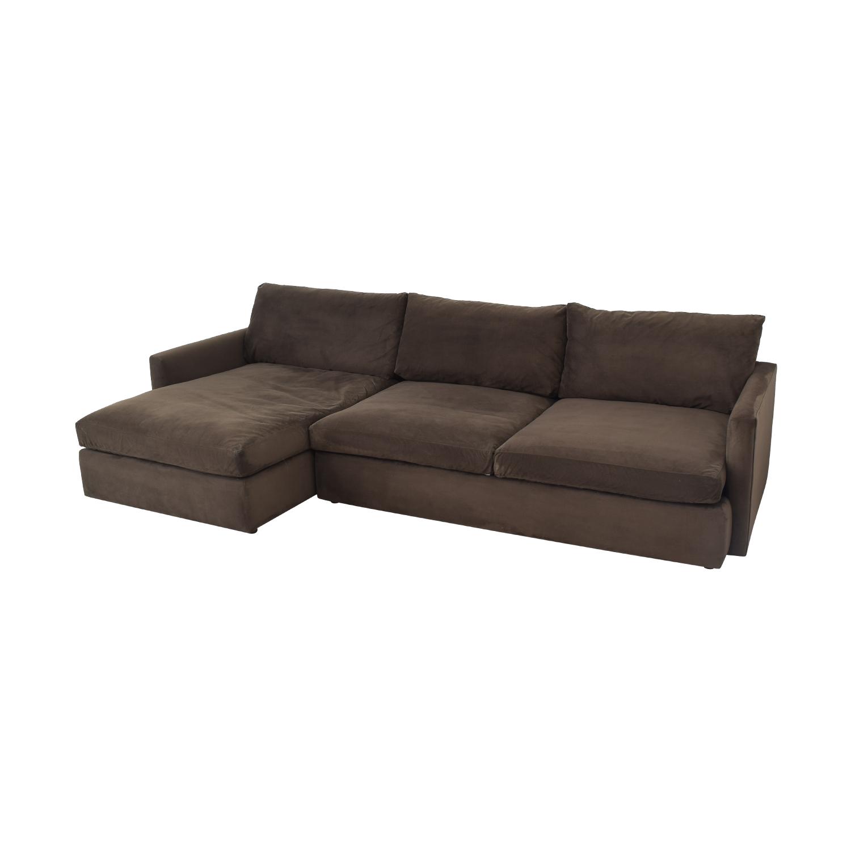 shop Crate & Barrel Lounge II 2-Piece Sectional Sofa Crate & Barrel