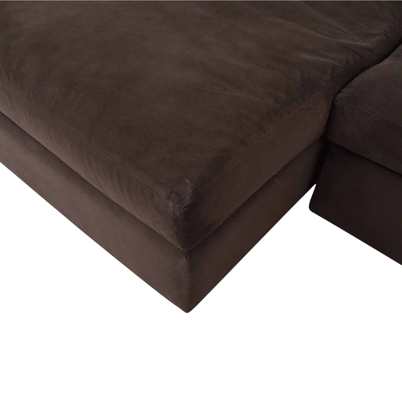 Crate & Barrel Crate & Barrel Lounge II 2-Piece Sectional Sofa pa