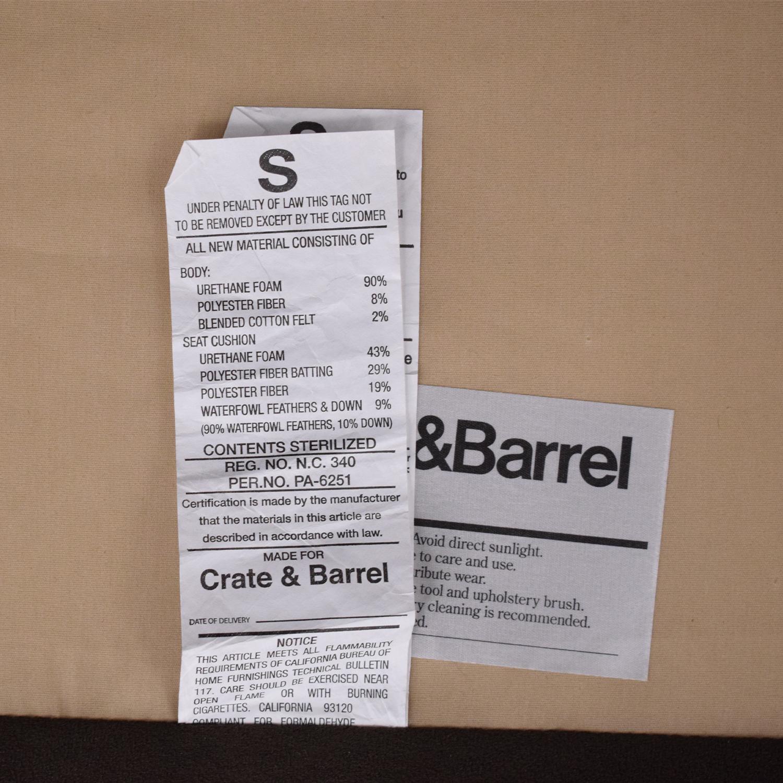 Crate & Barrel Crate & Barrel Lounge II 2-Piece Sectional Sofa used
