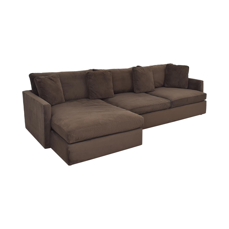 Crate & Barrel Crate & Barrel Lounge II 2-Piece Sectional Sofa brown