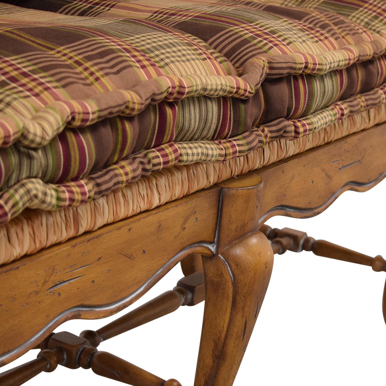 Vintage Plaid Cushion Bench nyc