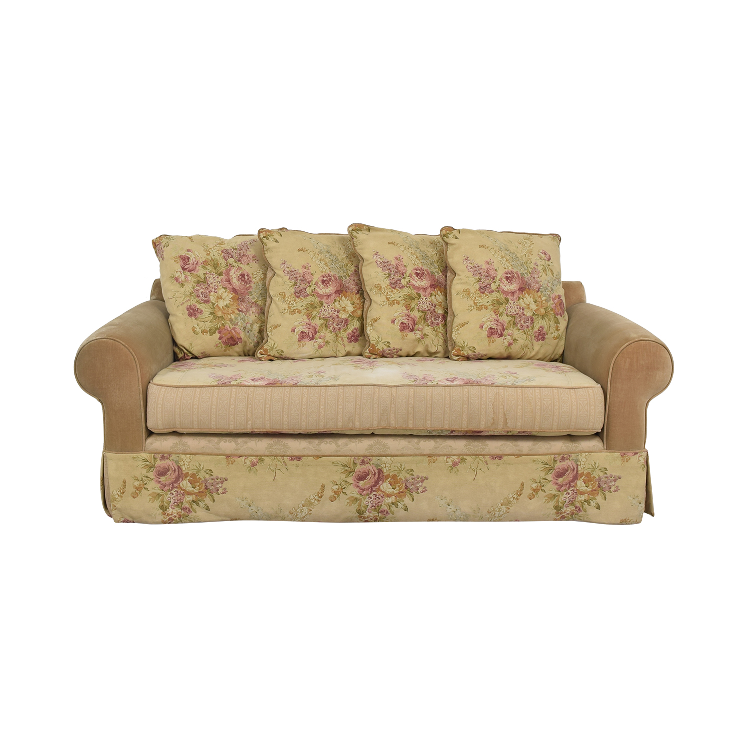 Single Cushion Floral Sofa Classic Sofas