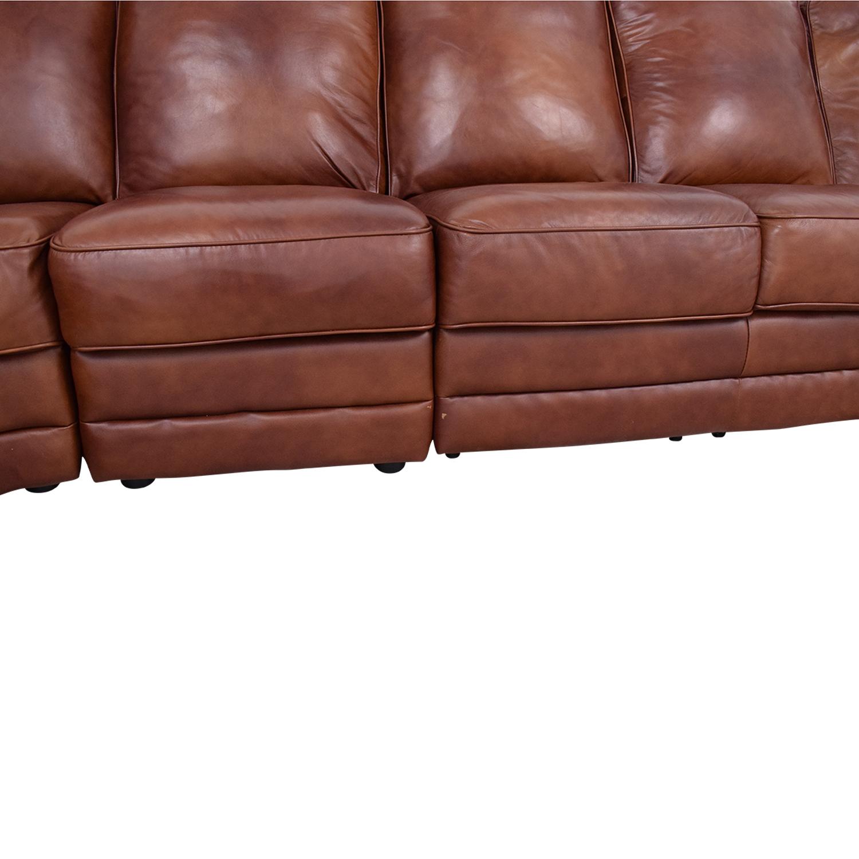 DeCoro Rounded Corner Sectional Sofa / Sofas